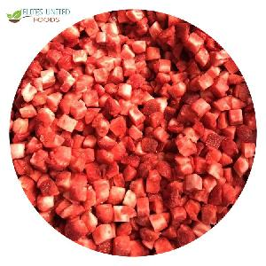 New season crop top Quality  IQF Strawberry cubes Frozen Strawberry dices diced
