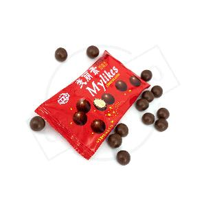 Best selling yummy  chocolate  in bag sweet mini  chocolate s ball China origin meltersers  high   quality   chocolate  coated biscuit