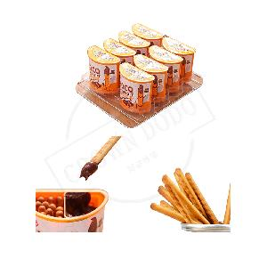 Delicious chocolate chip cookies biscuit OEM chocolate finger biscuit cup high quality chocolate biscuits with gift packing