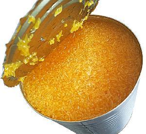 Консервированные пакетики мандарина