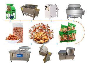 peanut frying machine | deep fried peanut production line