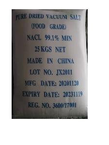 Free Flow  Pure  Dried  Vacuum  Iodised  Salt  25kg