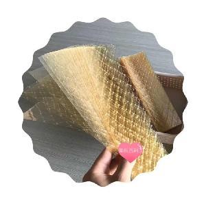 Edible  halal   gelatin  sheet food grade gold  gelatin  leaves manufacturer