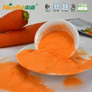 Spray dried carrot powder for baby food