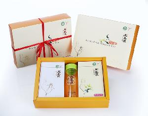 Dendrobium officinale gift box (soft gold powder silver Pack + flower tea)