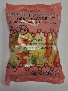 40g bag beef flavour intant noodle