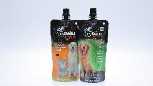 stand up spout pouch for pet food