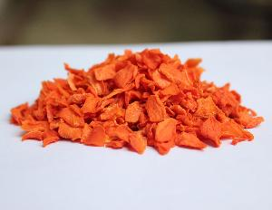 Dehydrated carrot flakes granules shoestrings