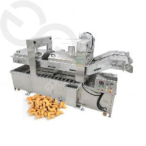 Automatic Gas Heating Chicken Nuggets Frying Machine