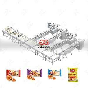 Automatic Pillow Type Biscuit Peanut Brittle Packing Machine