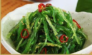 Seaweed Salad, Salted Wakame Slice, Salted Wakame Leaf, Salted Wakame Sprout, Salted Kombu Knot