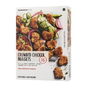 Frozen Crumbed Chicken  Nuggets  400g/Frozen Crispy Chicken Breast Strips 400g