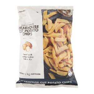 Frozen Steakhouse Cut  Potato   Chips  1Kg/Frozen Sweet  Potato   Chips  1Kg