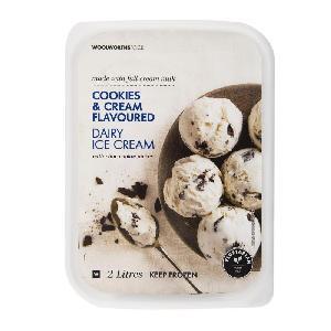 Cookies & Cream Flavoured Dairy Ice Cream 2L/Mint Dairy Ice Cream 2L/Madagascan Vanilla Ice Cream