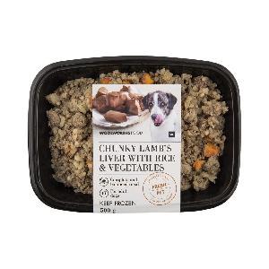 Fresh Pet Frozen Chunky Lamb Liver & Vegetables 500g/Fresh Pet Frozen Steak & Kidney, Rice & Vegetab
