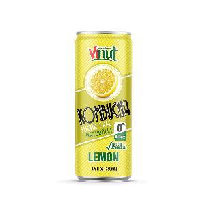 8.4 fl oz VINUT Kombucha natural Lemon juice free sugar