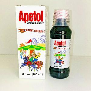 Apetol Vitamins Added Dietary Supplement 6 Fl. Oz (180 ml).