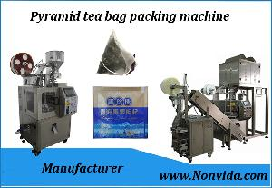 Pyramid   tea   bag   packing   machin e for biodegradable  tea   bag  packaging