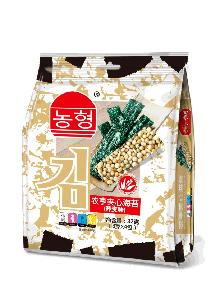 Safety Instant Seaweed Snack with Nuts Topping 32g in HACCP