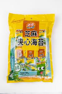 48g Safety Instant Seaweed Snack with seame