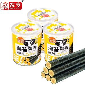 80g canned instant egg roll snack with salted yolk flavor