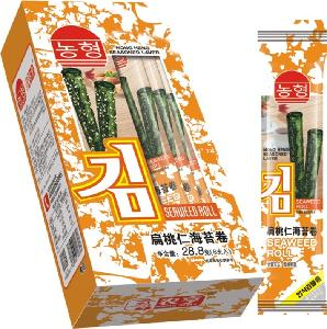 28.8g instant algae roll snack foods with almond topping