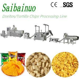 Frying Snacks Bugles Doritos Machine Corn Chips Making Machinery