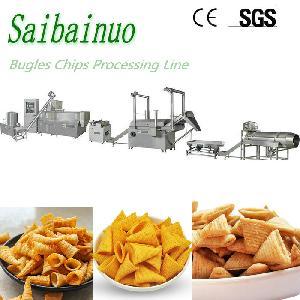 fried wheat flour snacks food bugles chips making machine