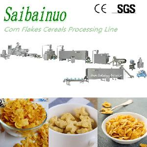 Breakfast Cereals Production Line Corn Flakes Making Machine