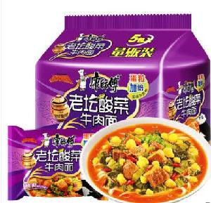 Master Kang Pickled Vegetable Beef Instant Noodles